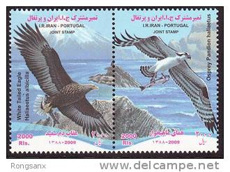 2009 I AN-PORTUGAL JOINT BIRDS 2V - Joint Issues