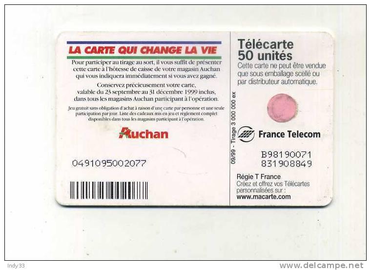 - TELECARTE AUCHAN . 1999 - Advertising