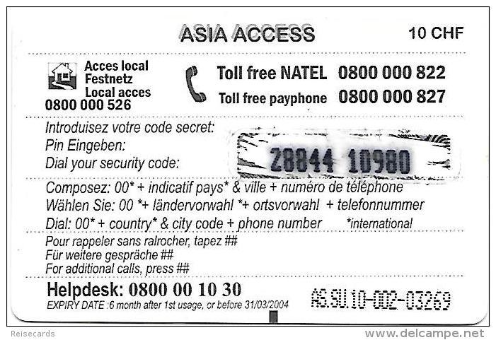 Prepaid: Access Asia - Dragon, Taj Mahal - Schweiz