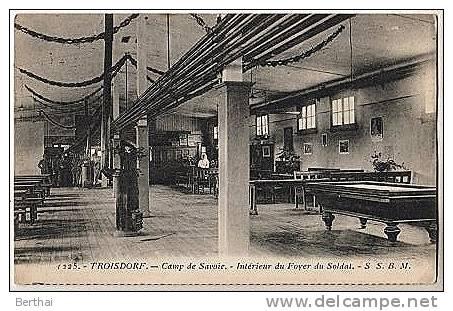ALLEMAGNE - TROISDORF - Camp De Savoie - Interieur Du Foyer Du Soldat (Billard) - Troisdorf