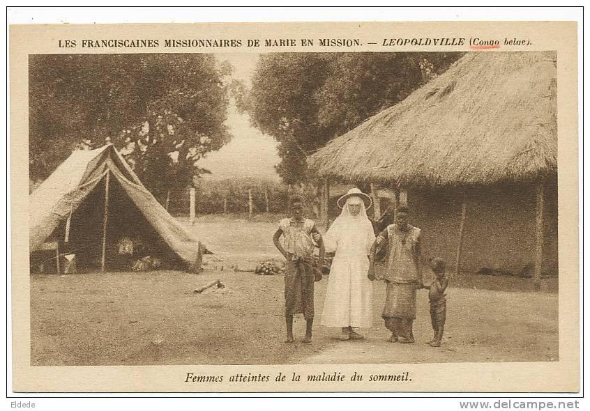Femmes Atteintes De La Maladie Du Sommeil Franciscaines Missionnaires De Marie - Kinshasa - Léopoldville