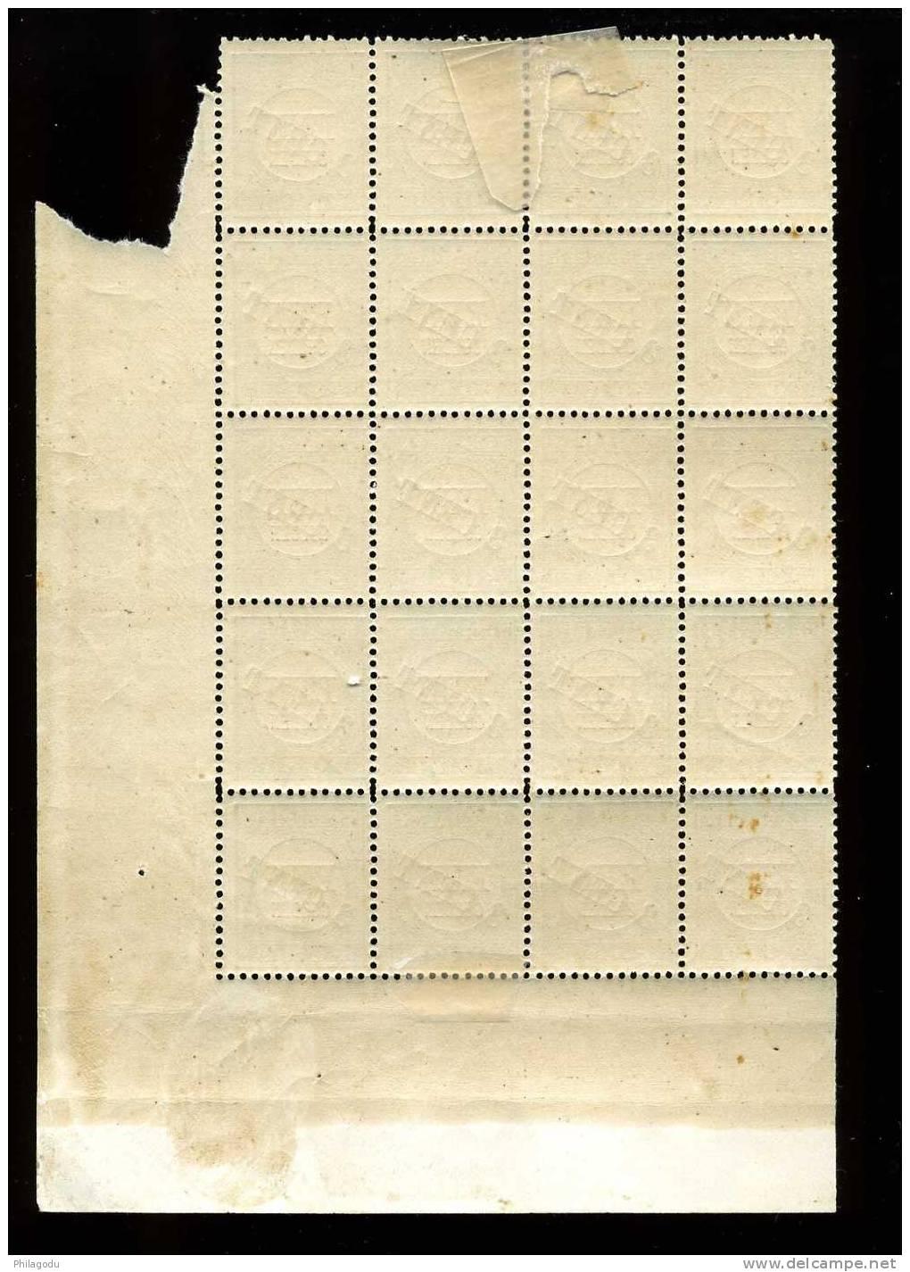 Porto 27**/* (NVPH)  Super Mooi Blok Van 20 Zegels KatW 2540 Euros = 16 Postfris En 4 Met Plakkertje - Strafportzegels