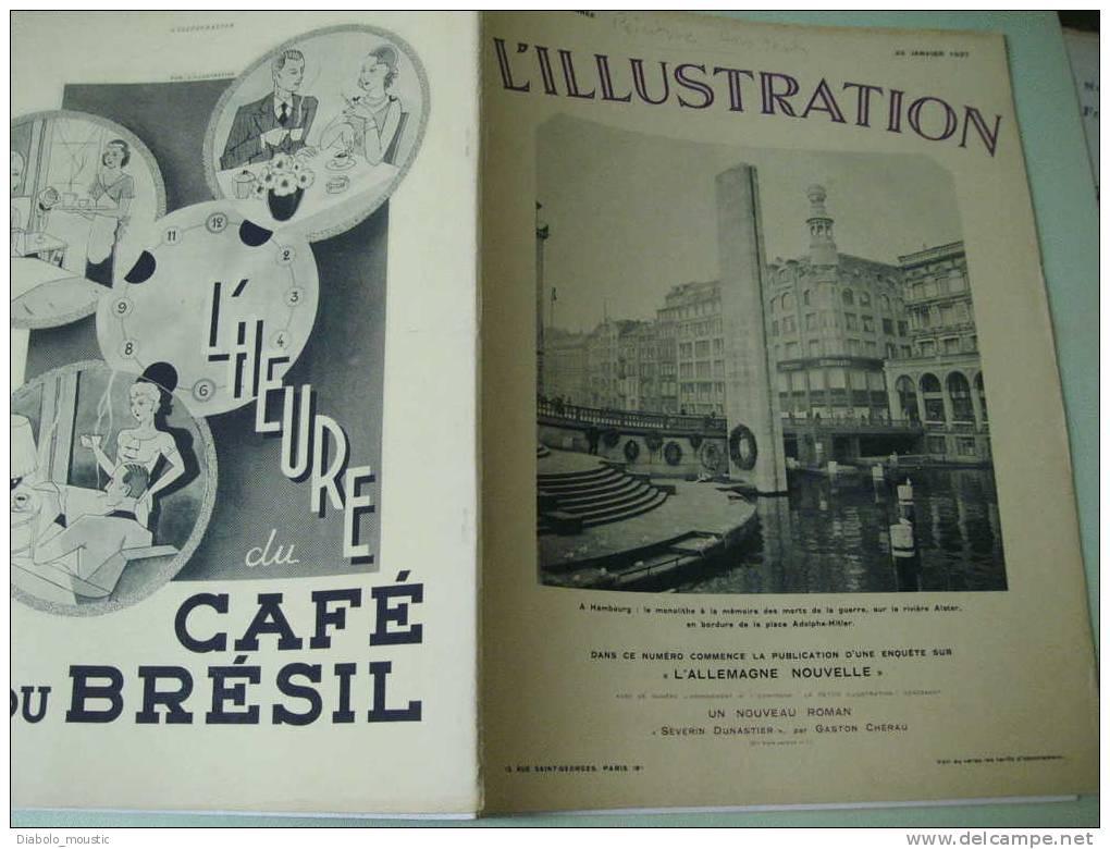 23 Janvier 1937 : L ´ ALLEMAGNE NOUVELLE Avec HITLER Architecte Et Visionnaire Du Monde De DEMAIN - Zeitungen
