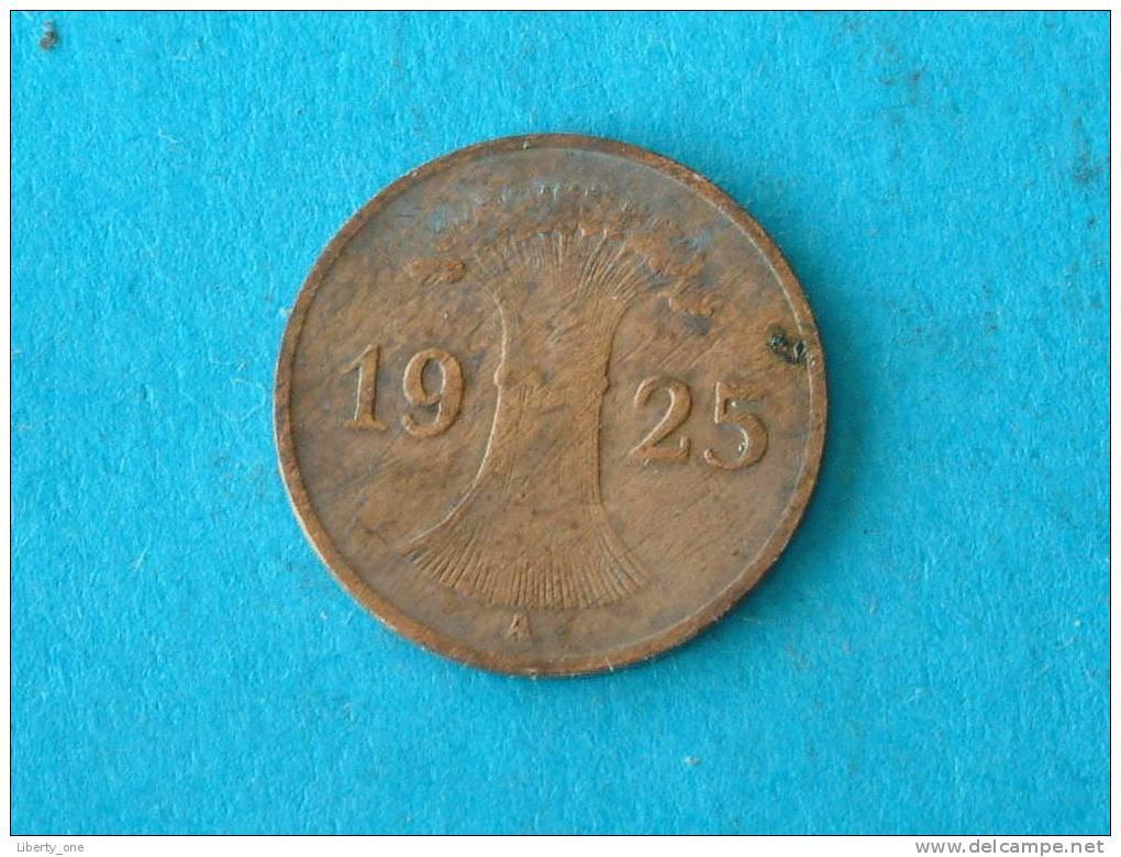 1925 A - 1 REICHSPFENNIG / KM 37 ( For Grade, Please See Photo ) !! - [ 3] 1918-1933 : Weimar Republic