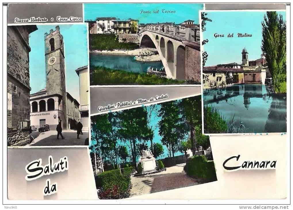 SALUTI DA CANNARA (PG) - Vedutine - F/G - V: 1966 - Perugia
