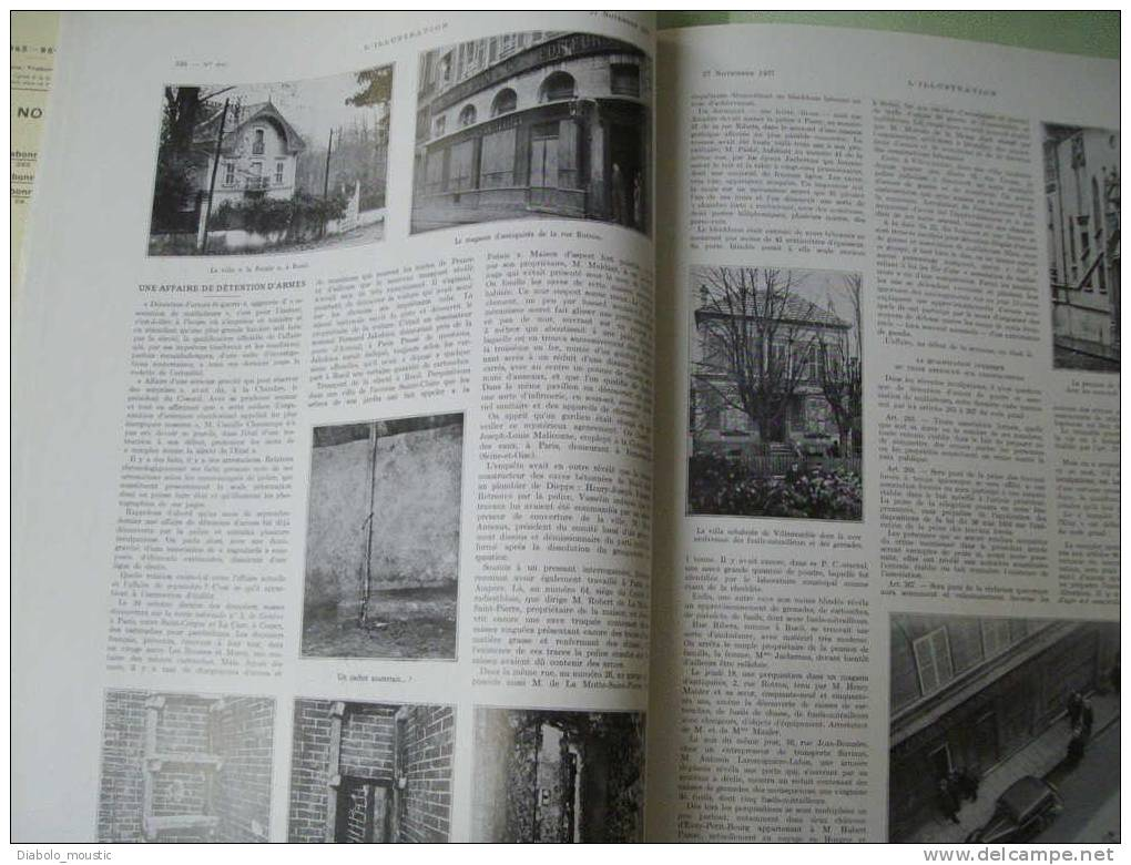 27 Novembre 1937 : Une Affaire De Détention D´ ARMES ; Les CHÂTEAUX De France ; Tableaux De La Vie De MISTRAL ; VIGNOBLE - Zeitungen