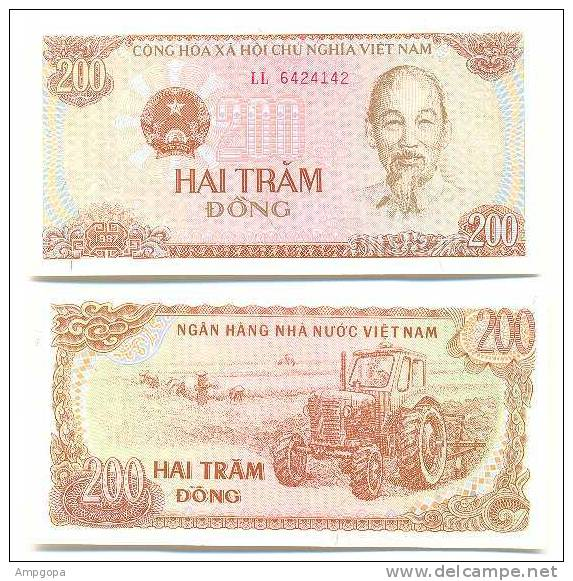 Vietnam 200 Dong 1987 Pick-100-a UNC - Vietnam