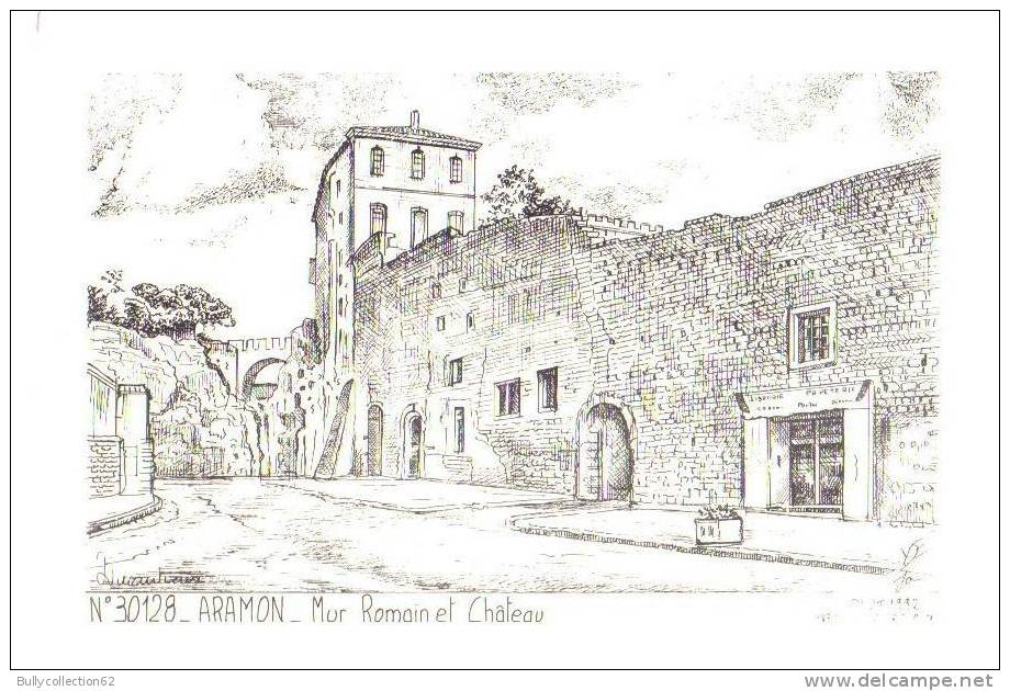 30.215  Mur Romain Et Château (yves-ducourtrioux) - Aramon