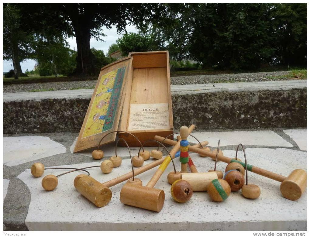 Jeu de croquet de salon complet marque eria jouet bois for Salon complet bois