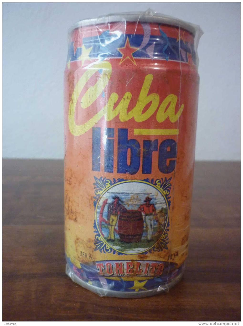 Bolivia Lata 350cc Cuba Libre 12º GL (Ron Oscuro, Soda Carbonatada, Azucar, Consevantes, Colorantes) 2 Scans - Cannettes
