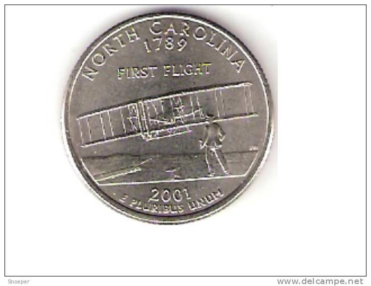 Usa,Carolina 1/4 Dollar 2001 D Km 319  Unc - 1999-2009: State Quarters