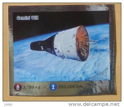 GEMINI VIII ( Croatia Sticker ) Space Espace Cosmos Universe Univers Weltall Universum Universo Spazio * Autocollant - Unclassified