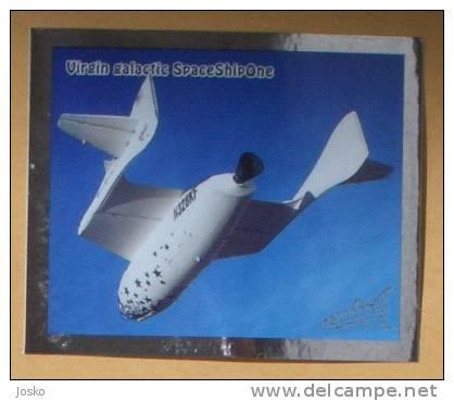 Virgin Galactic SpaceShipOne ( Croatia Sticker ) Space Espace Cosmos Universe Univers Weltall Universum Universo Spazio - Stickers