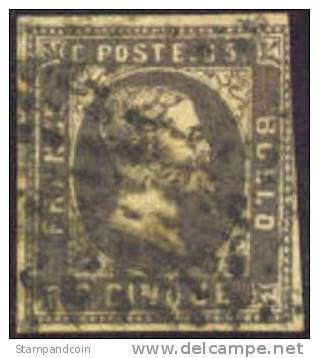 Sardinia #1 Used 5c Grey Black Of 1851 - Sardinia