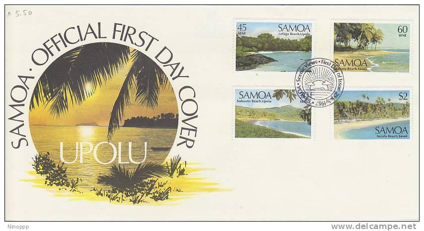Samoa-1987 Scenic Views FDC - Samoa