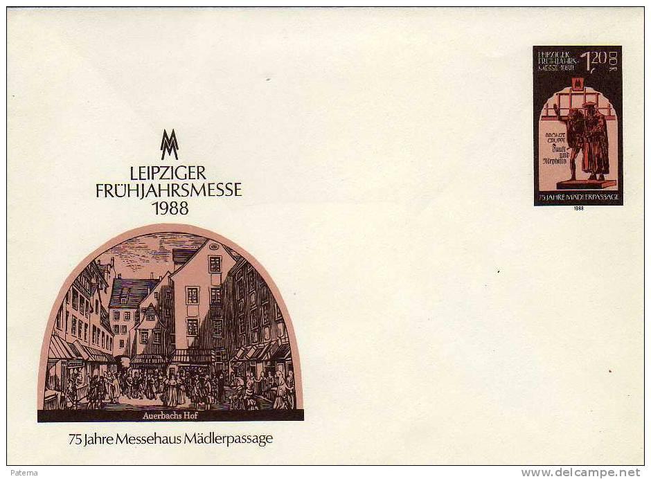 Carta, Entero Postal, LEIPZIGER,  DDR 1988  (Alemania) Entier Postal Cover, - Sobres - Nuevos