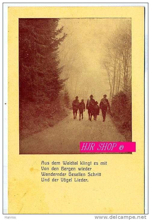 Postkarte Pfadfinder, Ungel. - Pfadfinder-Bewegung