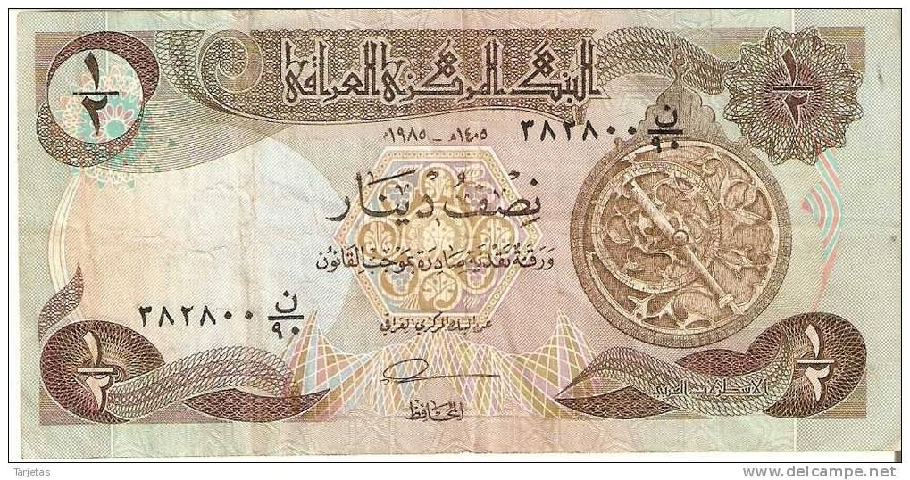 BILLETE DE IRAQ DE 1/2 DINAR - Iraq