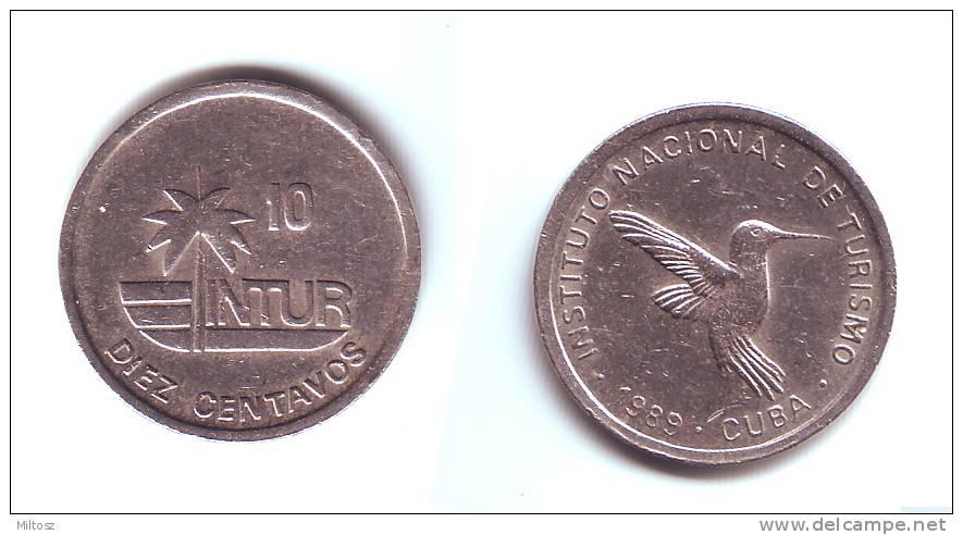 Cuba 10 Intur Centavos 1989 - Cuba