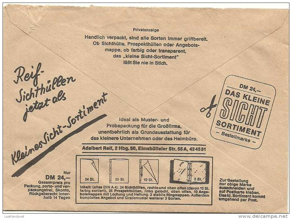 Germany Gyrocover Free Postage Illustrated Reclame Book  Meter Nurnberg 13-12-1967 - Schrijvers