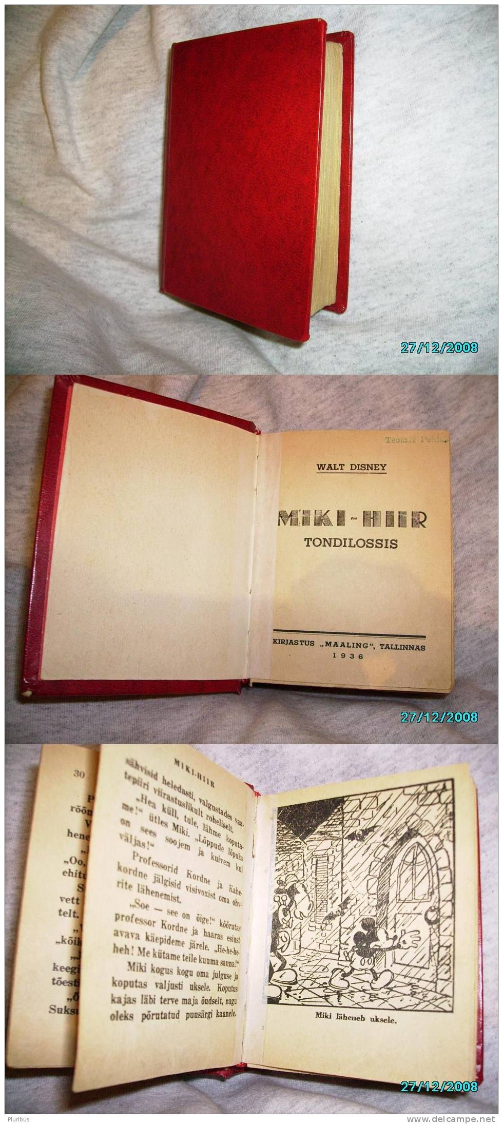 X.RARE 1936 DISNEY BLAGGARD CASTLE ESTONIA MICKEY MOUSE - Books, Magazines, Comics