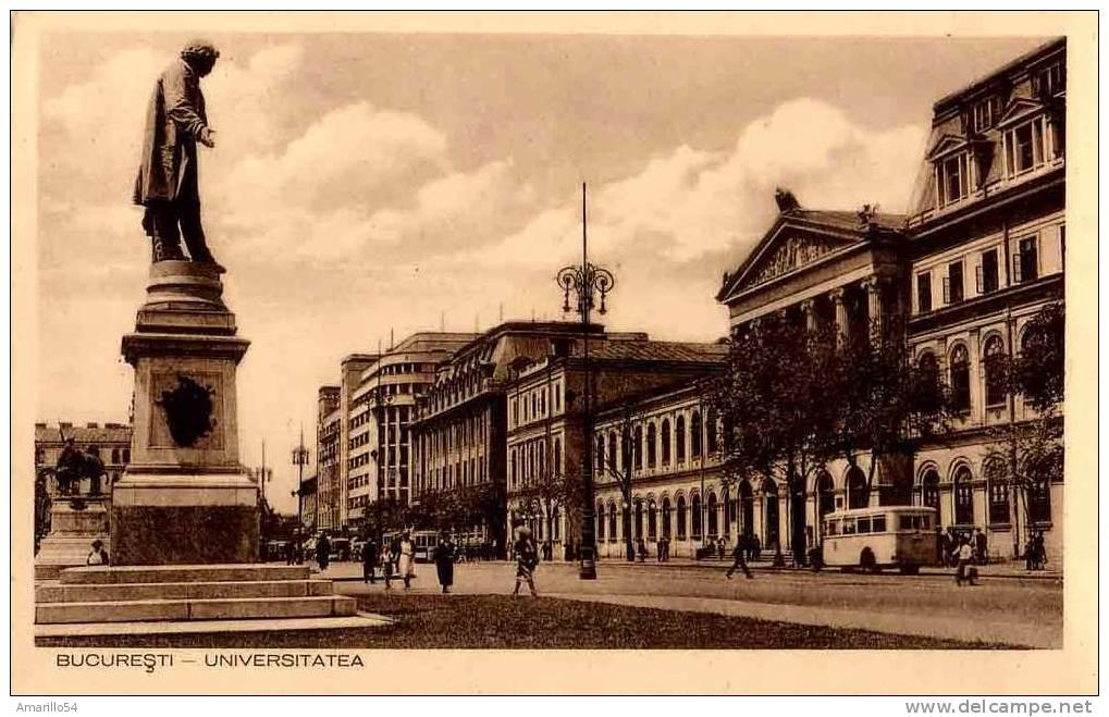 Bucuresti Bucuresci Bukarest -- Universitatea Cca 1941 - Roumanie