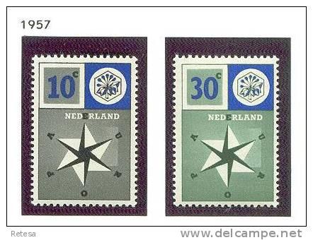 NEDERLAND EUROPA ZEGELS 1957 ** - 1957