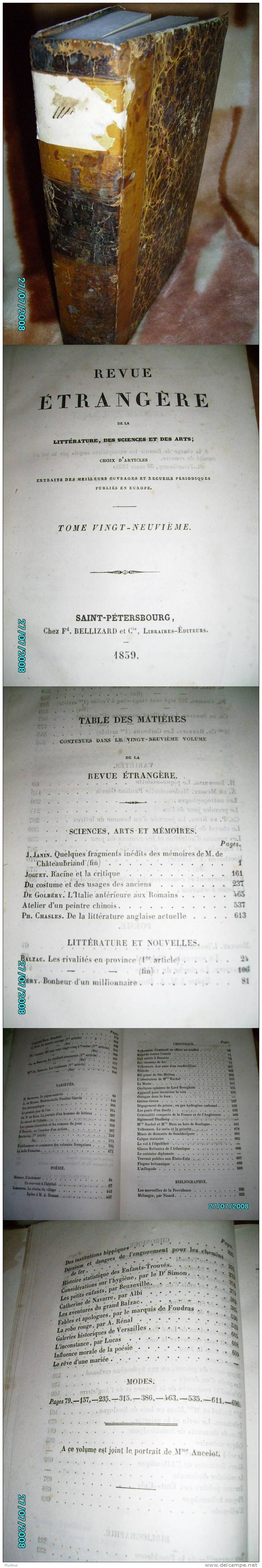 1839 RUSSIA PETERBURG, REVUE ETRANGERE - Magazines - Before 1900