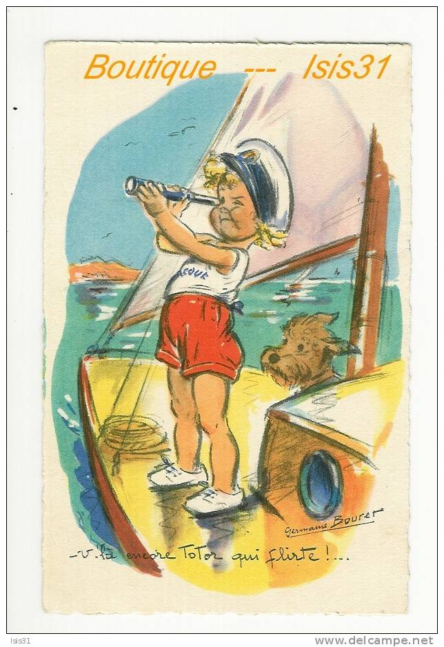 Illustrateurs Signés - Animaux - Chiens - Dogs - RF23496 - Illustrateur Germaine Bouret - état - Bouret, Germaine