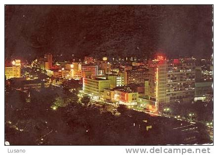 Lourenço-Marques - Vue De Nuit Du Centre Ville - Avenue D. Luiz - Mozambique