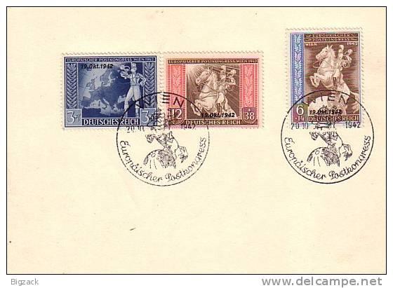 DR Karte Mif Minr.823,824,825 SST Wien 20.10.42 - Briefe U. Dokumente
