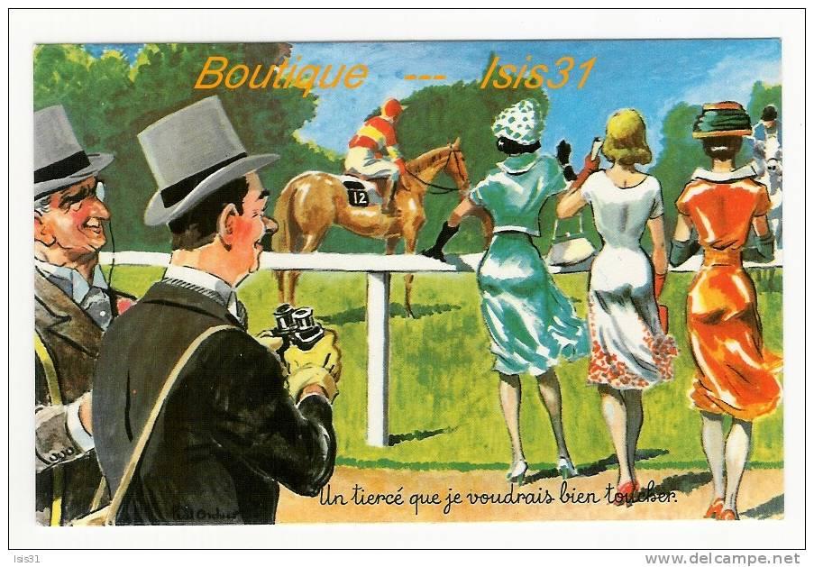 Sports - Hippisme - Hippodrome - Courses De Chevaux - RF23342 - Humoristique - Tiercé - Illustrateur Paul Ordner - état - Horse Show
