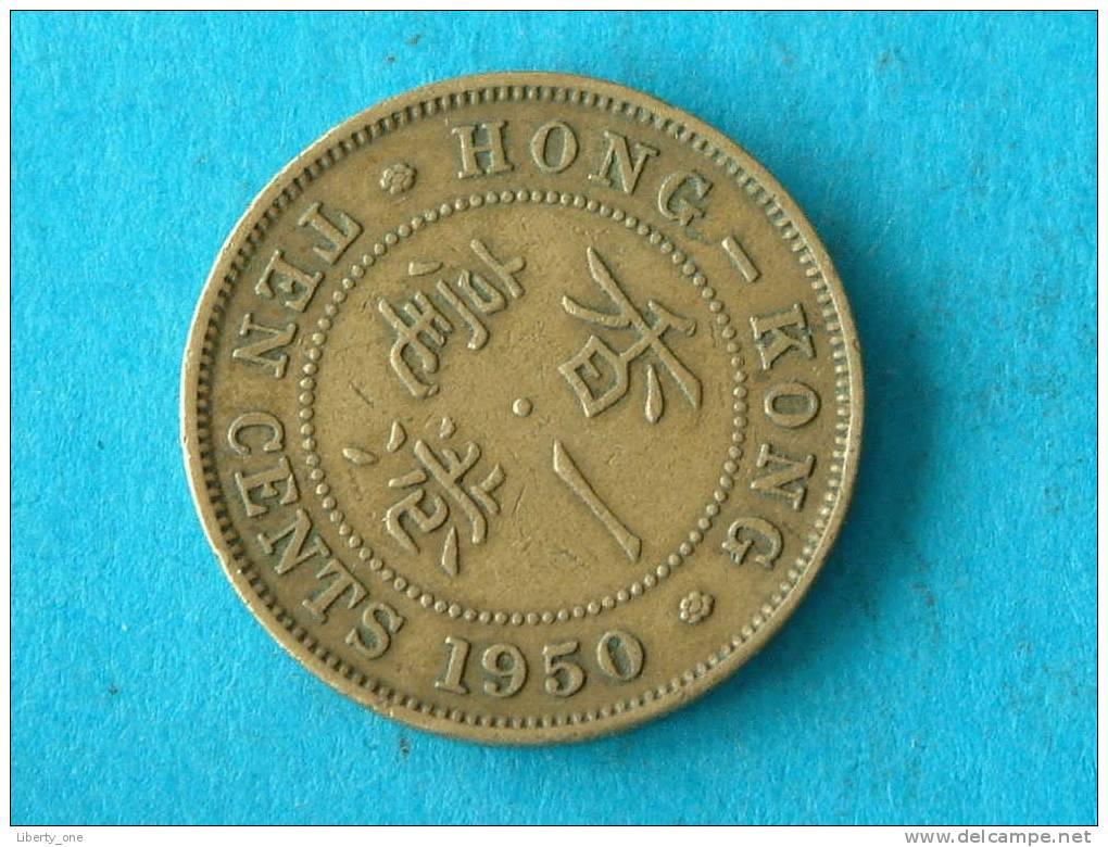 1950 - TEN CENTS / KM 25 ( For Grade, Please See Photo ) ! - Hong Kong