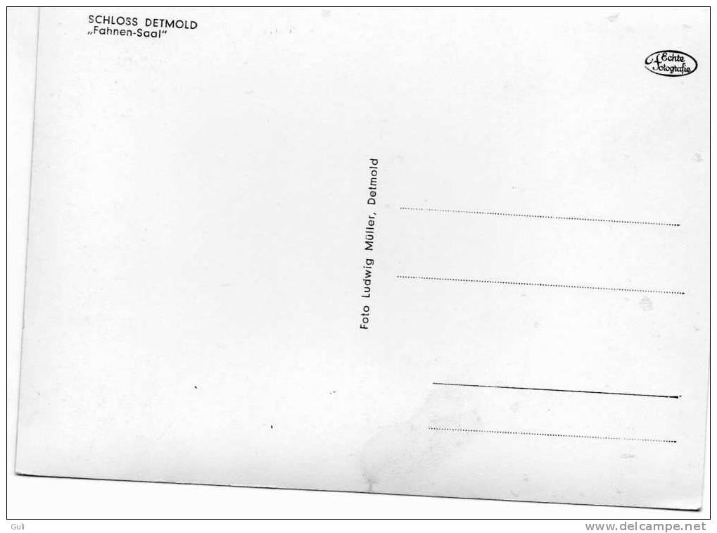 SCHLOSS DETMOLD - Allemagne- Fahnen Saal- *PRIX FIXE - Detmold