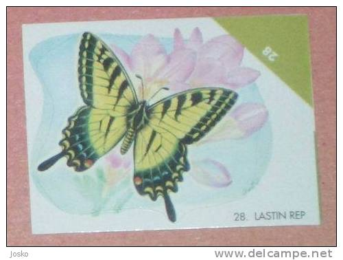 BUTTERFLY Dovetail ( Croatia Sticker) Papillon Butterflies Schmetterling Papillons Mariposa Farfalla Croatie Autocollant - Stickers