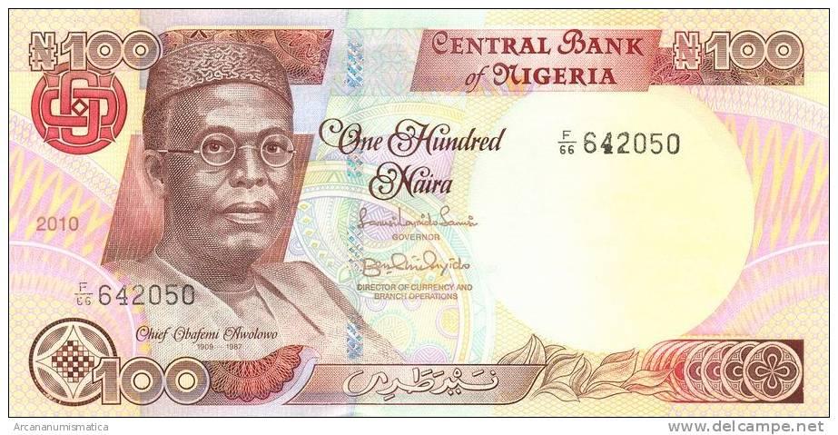 NIGERIA   100  NAIRA  2.010  2010   SC/UNC    KM#28K        DL-8710 - Nigeria