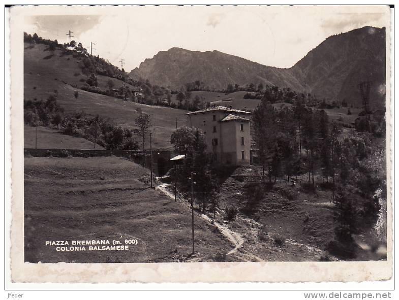 LOMBARDIA - Bergamo -Piazza Brembana - Colonia Balsamese - Timbro Colonia Al Retro - Bergamo