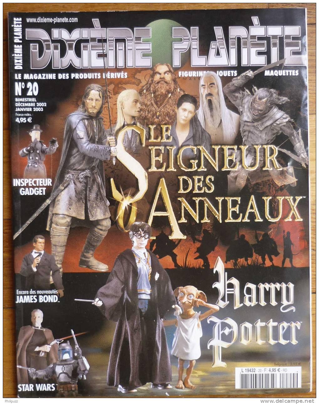 DIXIEME PLANETE N° 20 LE SEIGNEUR DES ANNEAUX  HARRY POTTER  INSPECTEUR GADGET  JAMES BOND  STAR WARS - Unclassified
