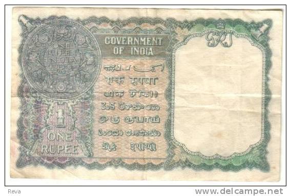 BURMA INDIA  BRITISH 1 RUPEE KGVI HEAD FRONT & COIN BACK O/P DATED 1940(1948) P.(?) F READ DESCRIPTION !! - Myanmar