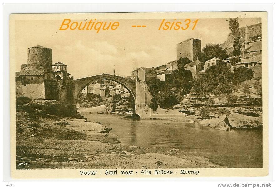 Bosnie-Herzegovine  - RF22225 - Mostar - Stari Most - Alte Brücke - Mocrap   -  état - Bosnie-Herzegovine
