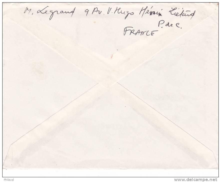 FRANCE : Jolie Lettre 14.5 X 11 Cms.oblitérée Le 21.12.1960 - France