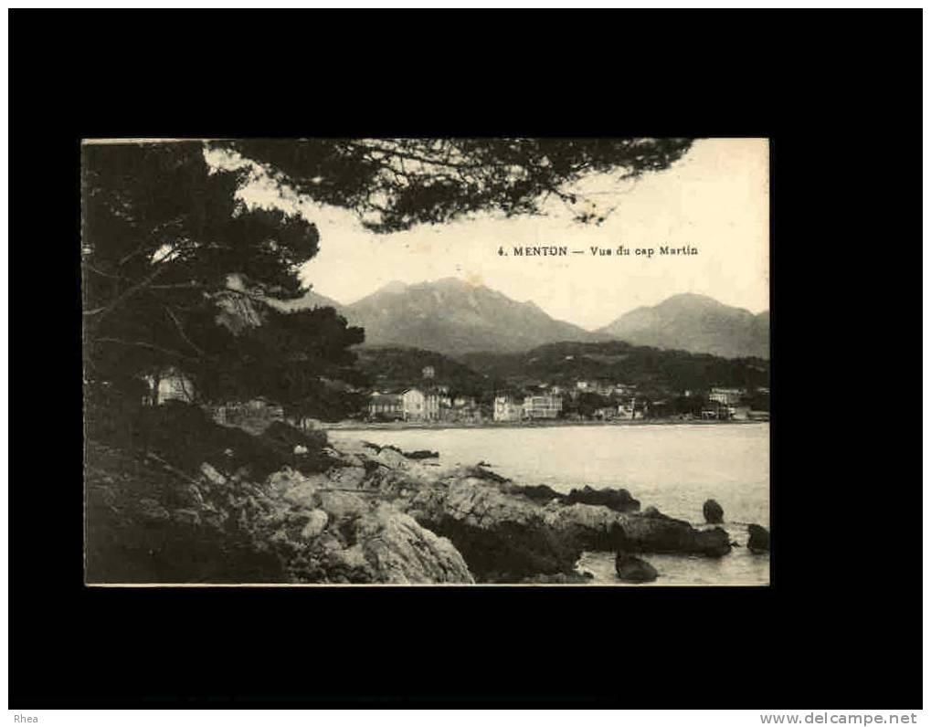06 - MENTON - 4 - Vue Du Cap Martin - Menton