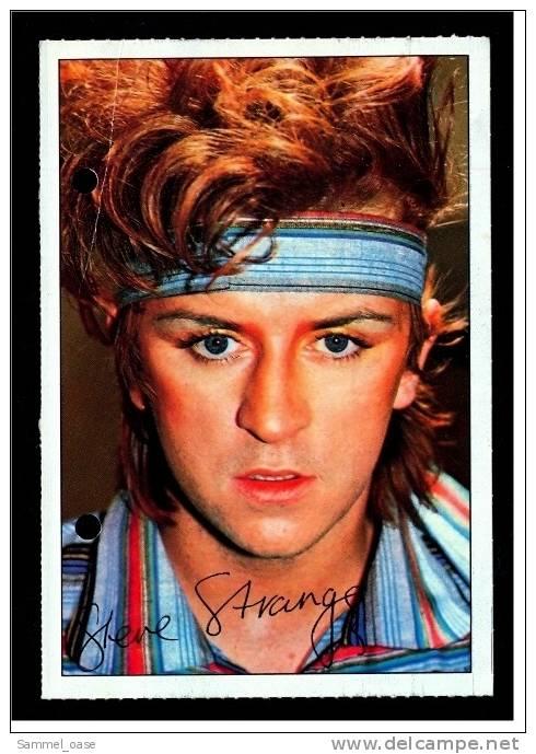 Alte Repro Autogrammkarte  -  Steve Strange  - Von Ca. 1983 - Autogramme