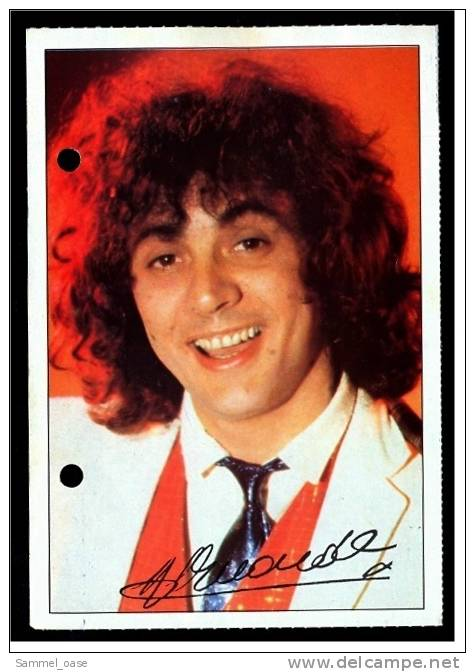 Alte Reproduktion Autogrammkarte  -  Patrick Hernandez  - Von Ca. 1982 - Autogramme