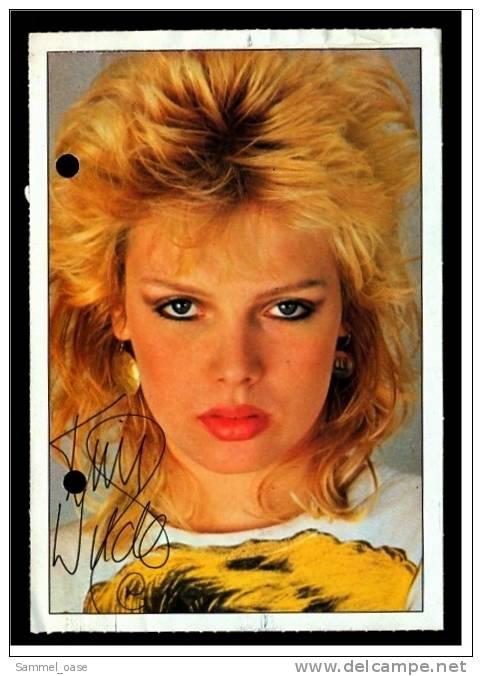 Alte Repro Autogrammkarte  -  Kim Wilde  Ca. 1982 - Autogramme