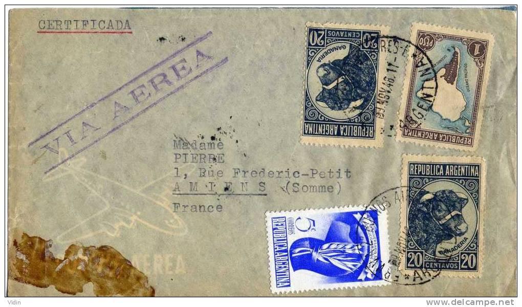 ARGENTINE Lettre Buenos Aires Poste Aérienne Certificada - Argentinien