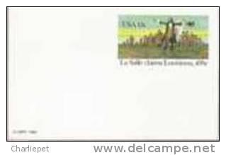 US Scott # UX95 13c LaSalle Claims Louisiana Mint Postal Card - Postal Stationery