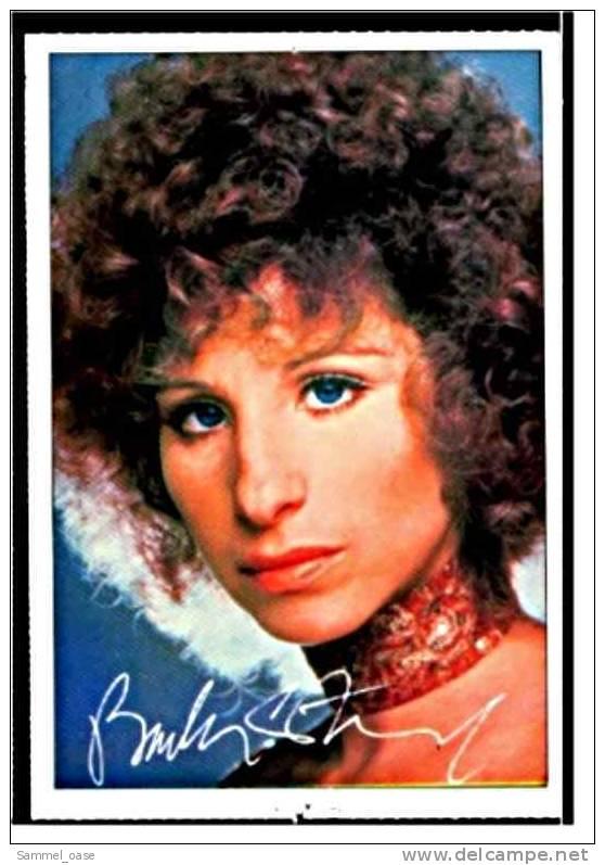 Alte Repro Autogrammkarte  -  Barbra Streisand   Von Ca. 1982 - Autogramme