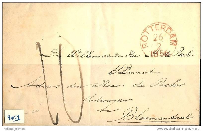 BRIEFOMSLAG Uit 1856 Van BLOEMENDAAL Naar AMSTERDAM  (4032) - Zonder Classificatie