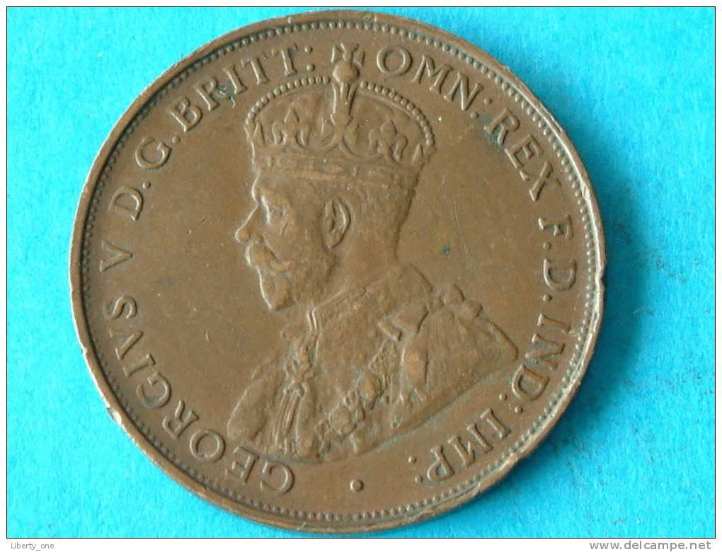 1919 - ONE PENNY / KM 23 ( For Grade, Please See Photo ) !! - Monnaie Pré-décimale (1910-1965)